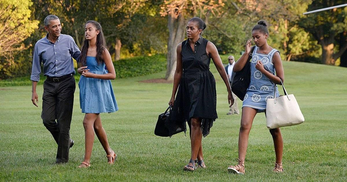 Malia Michelle Sasha Barack Obama