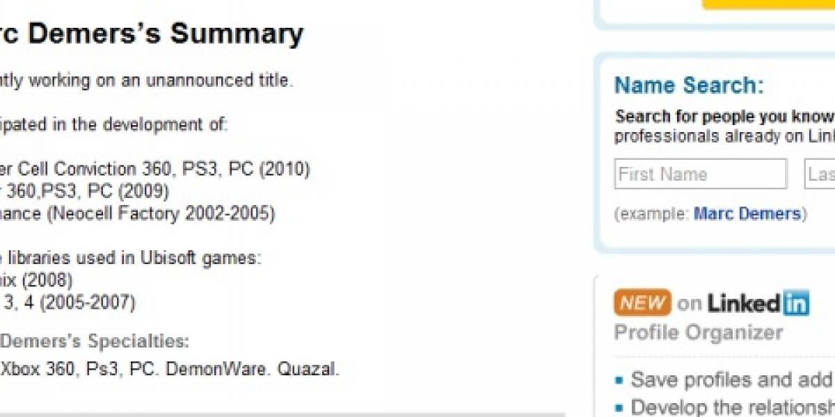 Futurología: Splinter Cell: Conviction para PS3 tarde o temprano (otra vez)