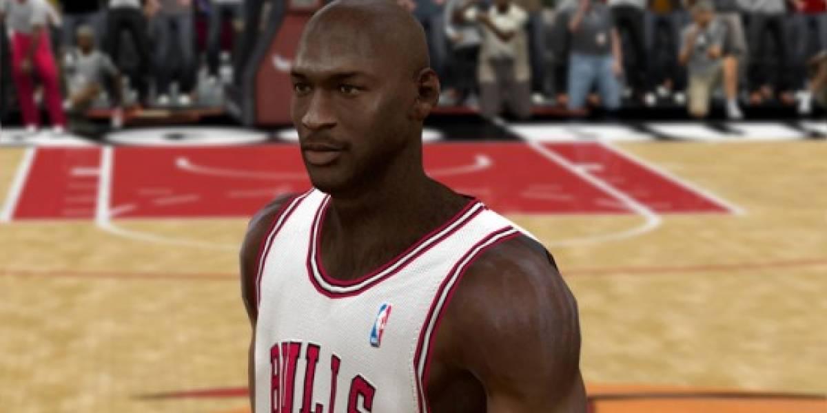 Michael Jordan en la portada de NBA 2K11
