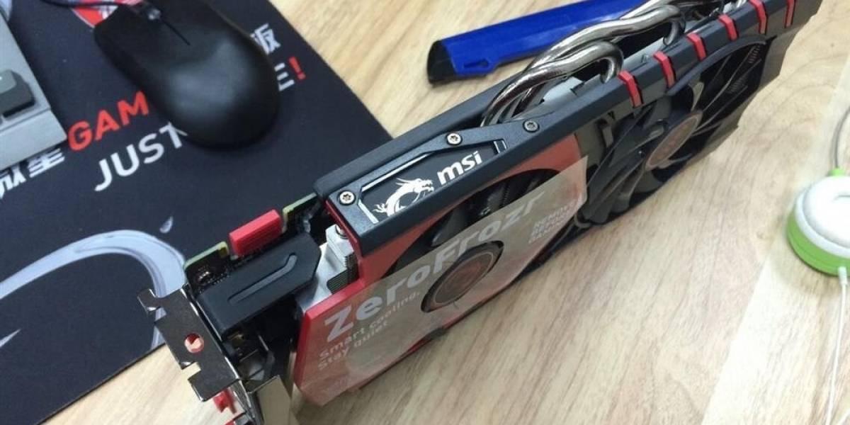 NVIDIA GeForce GTX 960 posa para la cámara