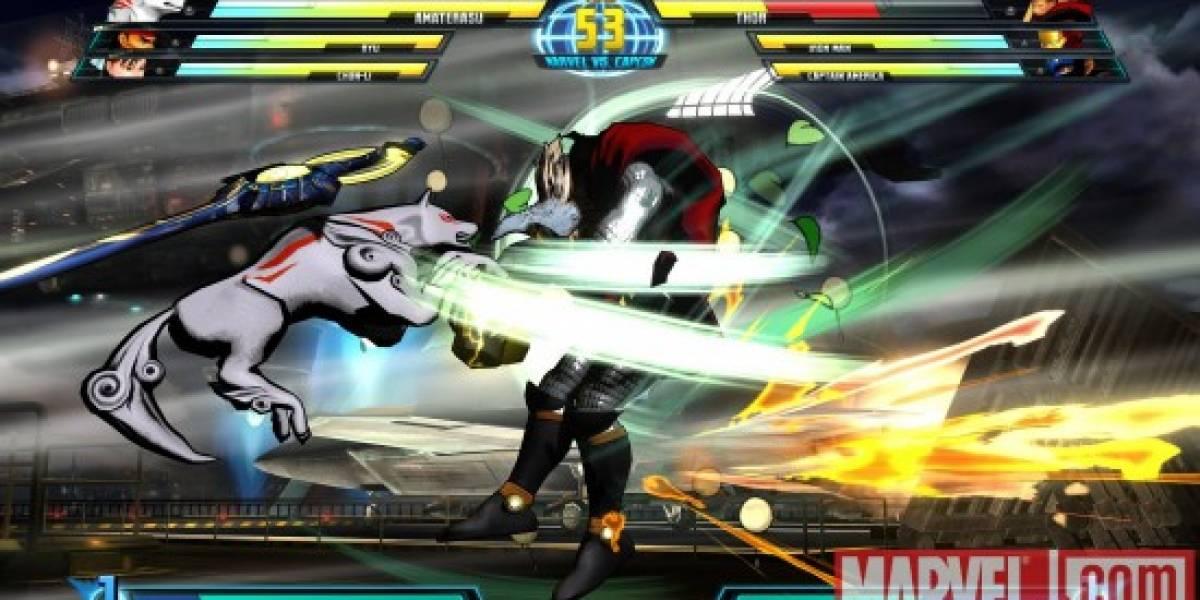 Videos de Amaterasu y Thor en Marvel VS Capcom 3 [Comic-Con 10]