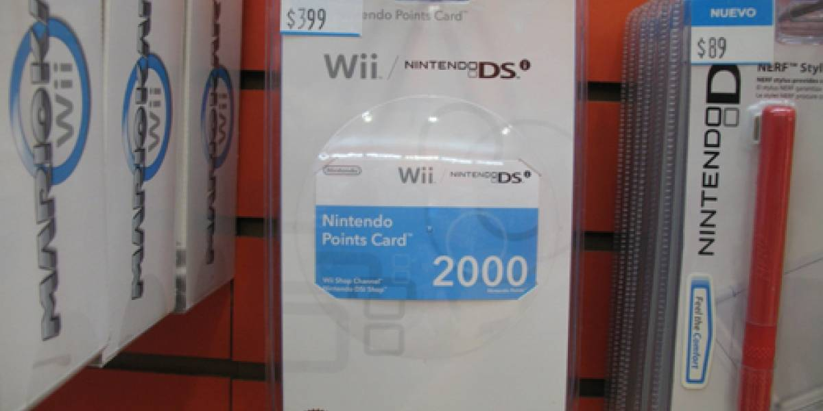 México: Nintendo Points Cards de 2000