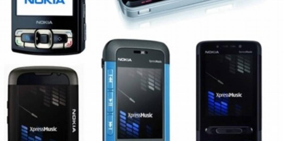 Los cinco nuevos celulares de Nokia: N81, N95 8GB y XpressMusic 5310, 5610 y 5700