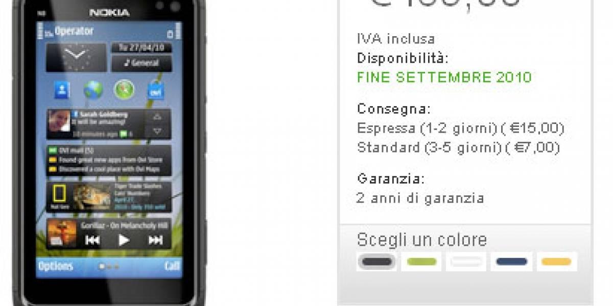 Nokia N8 puede ser reservado por EUR€469 en Italia