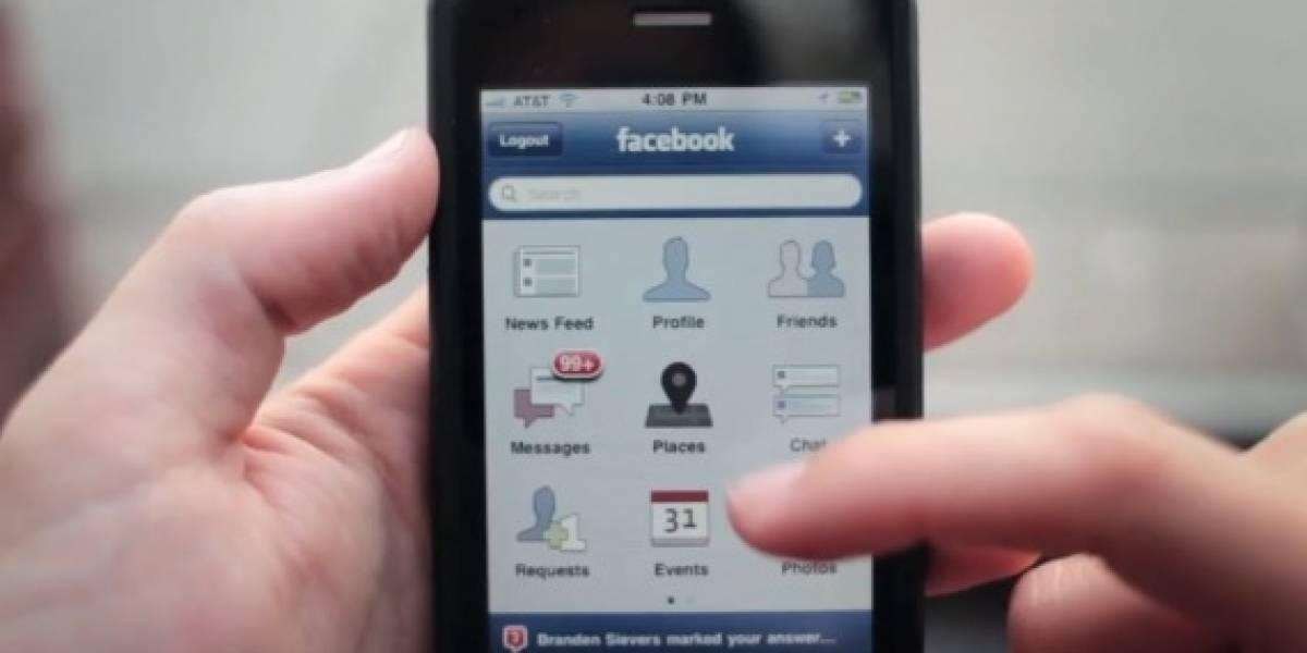 Facebook lanza servicio de ubicación geográfica para móviles con GPS