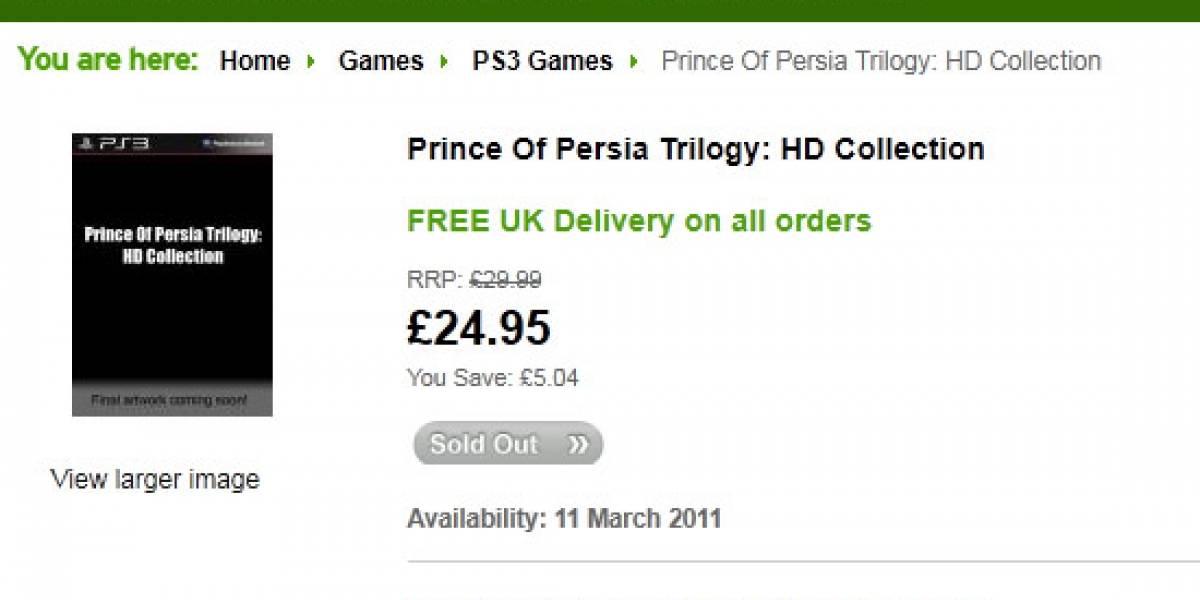 Futurología: Splinter Cell Trilogy a fines de Noviembre, Prince of Persia Trilogy el 2011