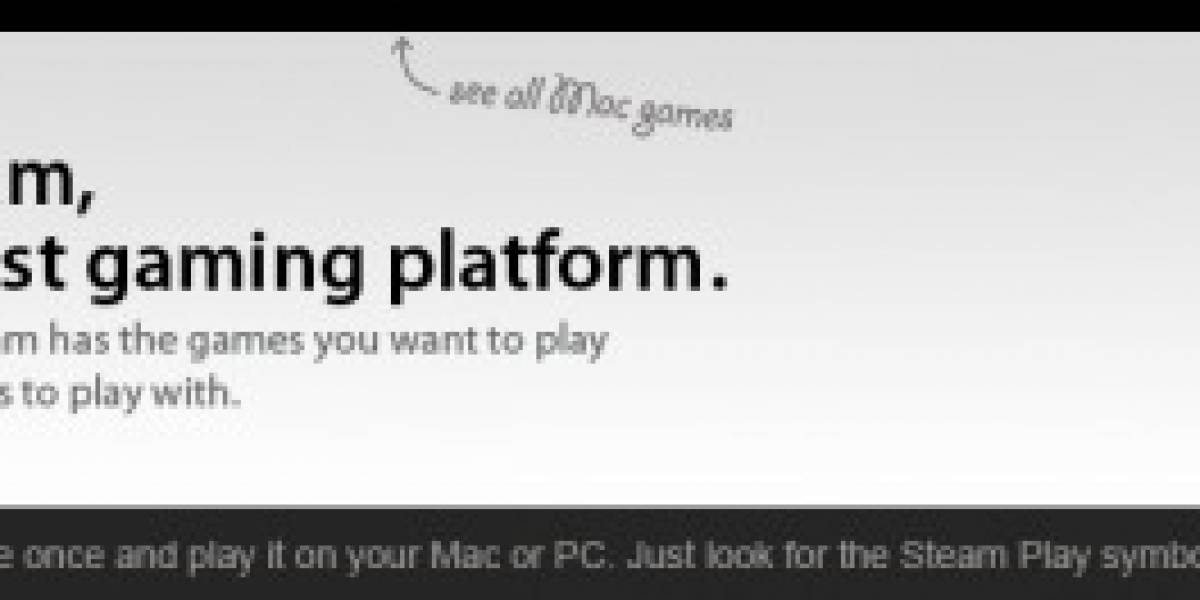 Steam para Mac ya está disponible