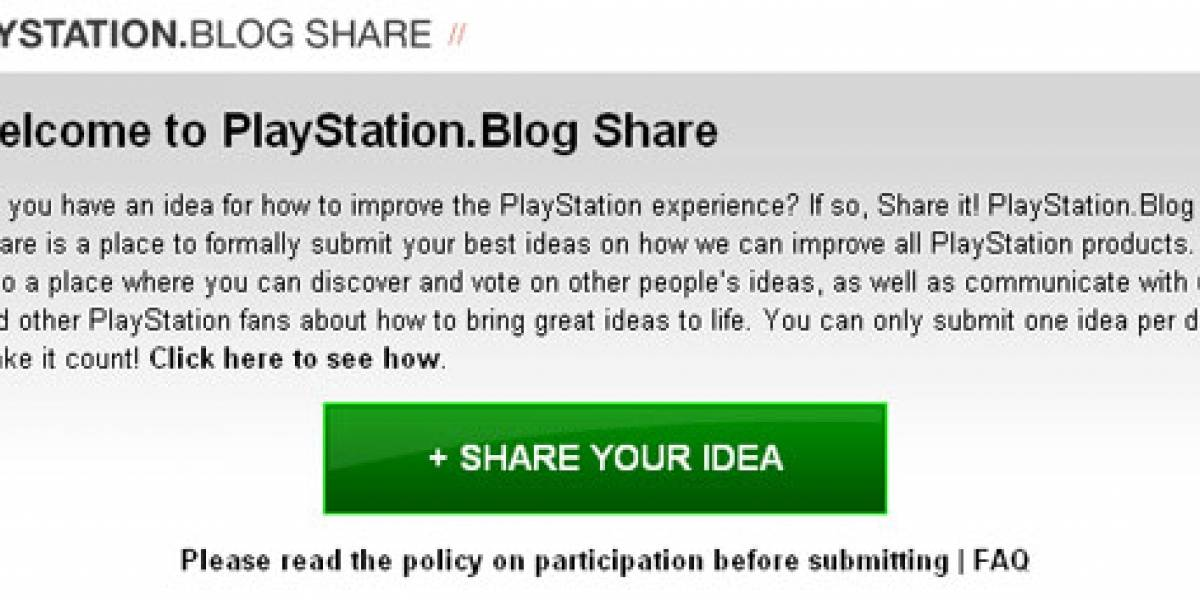 Sony quiere escuchar tus ideas