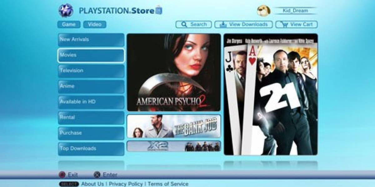 Ya hay video store en PSN Europa