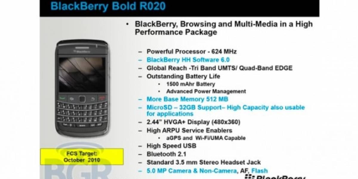 Futurología: BlackBerry Bold 9780, Curve 9330 y Storm 3 serían lanzadas en octubre