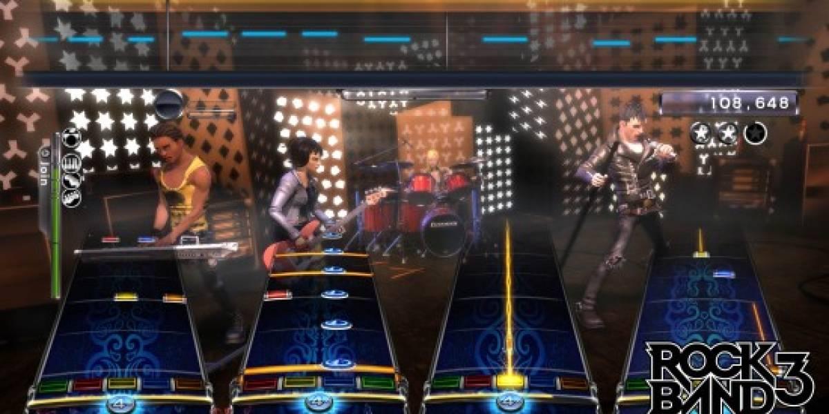 Rock Band 3 llegará el 26 de Octubre a Norteamérica