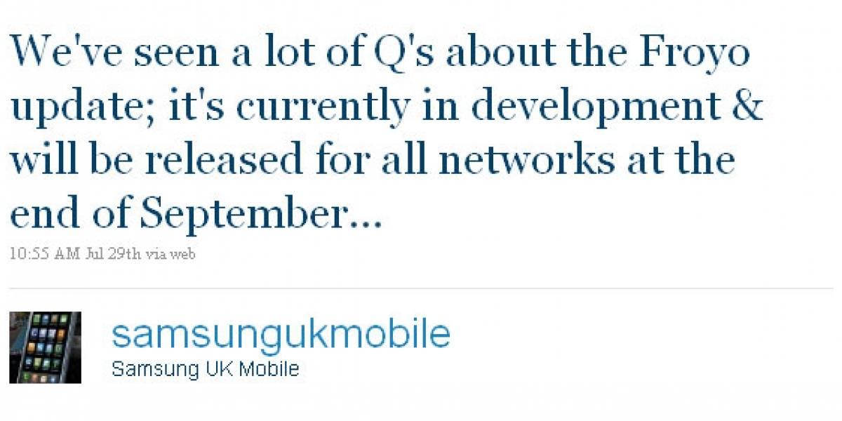 Samsung Galaxy S será actualizado a Froyo en septiembre