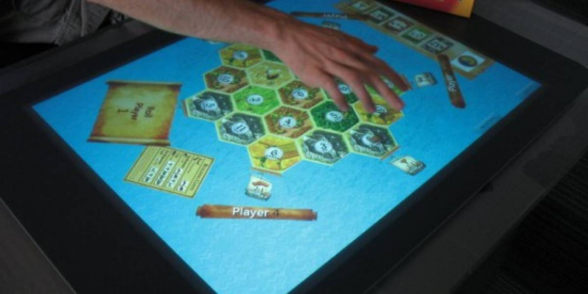 Demo de Settlers of Catan corriendo en Microsoft Surface