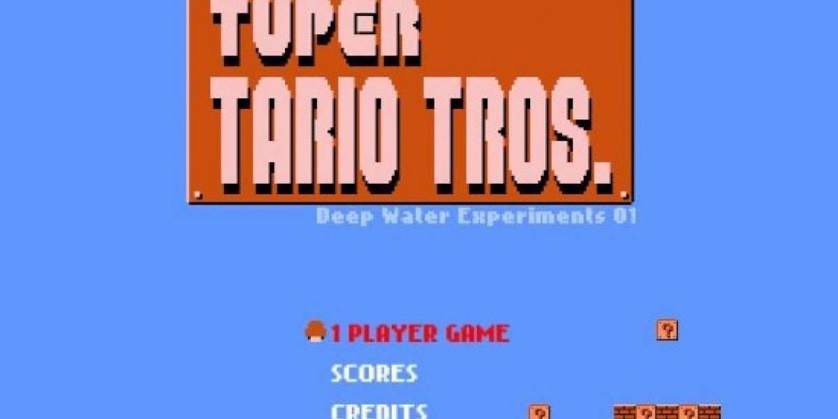 Tetris y Mario: Tuper Tario Tros.