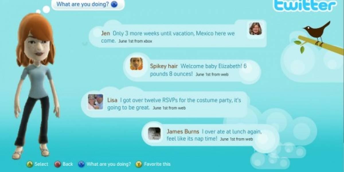 Twitter y Facebook llegan a Xbox 360 el 17 de Noviembre
