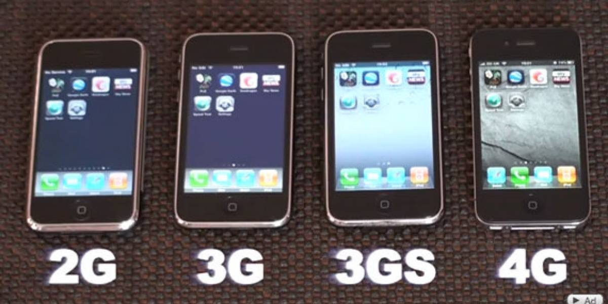 iPhone 2G vs. iPhone 3G vs. iPhone 3GS vs. iPhone 4