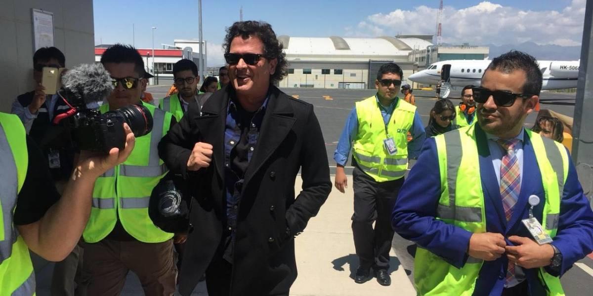 Carlos Vives ya está en Ecuador