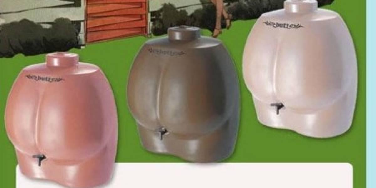 Butt Butt: Recipiente para recolectar agua de lluvia