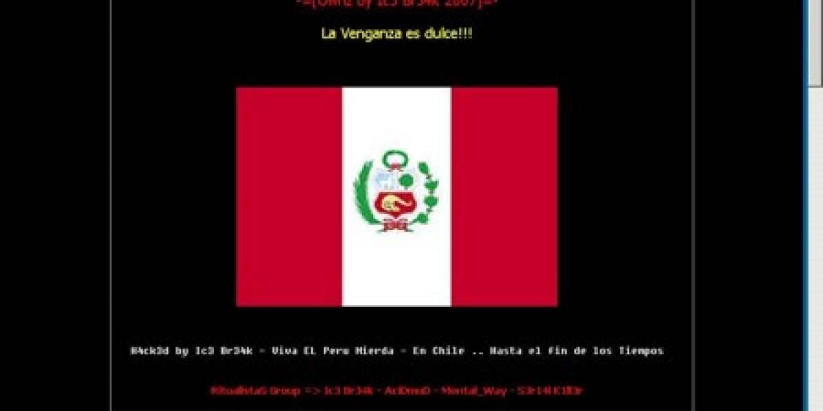 Sitio del Gobierno de Chile hackeado