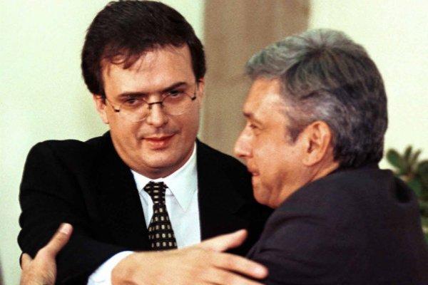 Marcelo Ebrard y Andrés Manuel López Obrador