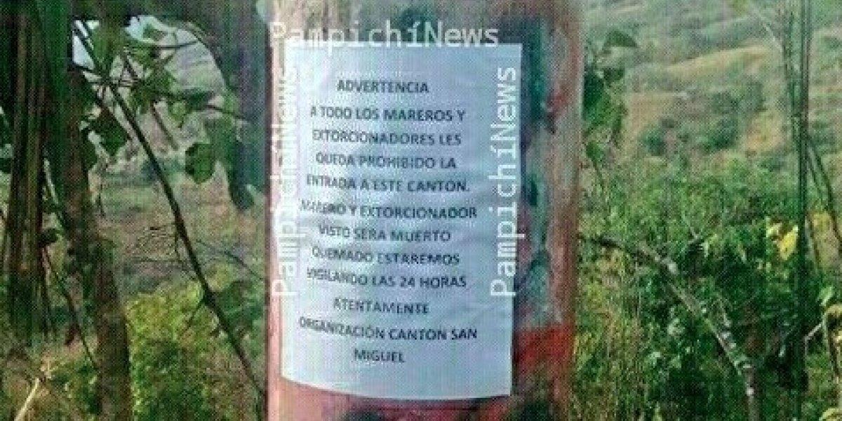 Vecinos de Amatitlán prohíben ingreso a mareros y extorsionadores y los amenazan