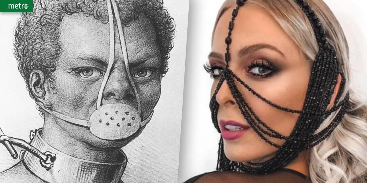 Youtuber vai a baile da Vogue com adereço que imita máscara de tortura e é criticada