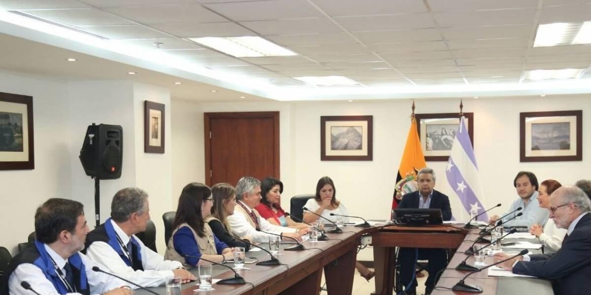 Lenín Moreno se reúne con observadores Unasur y OEA