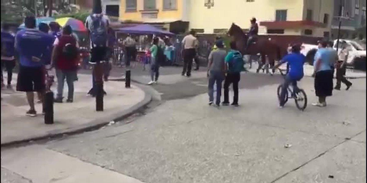 Se registraron enfrentamientos entre hinchas en las inmediaciones del Capwell
