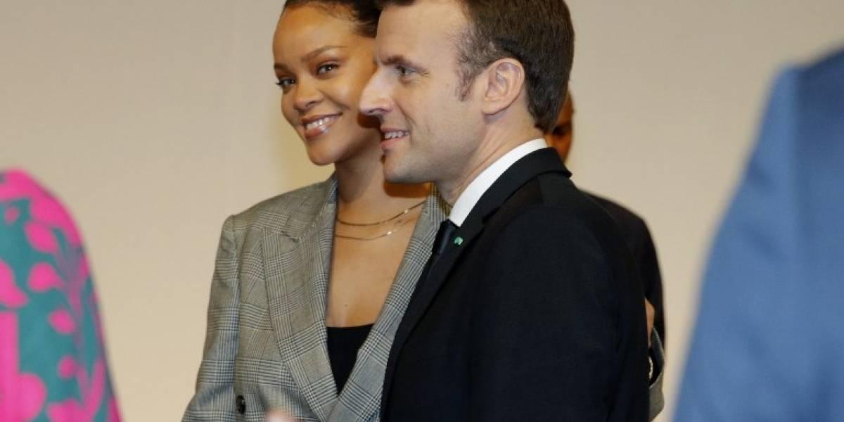 Macron y Rihanna lideran conferencia para financiar la educación en el mundo