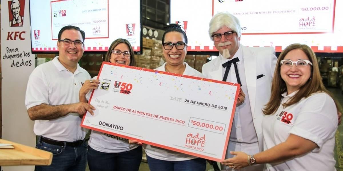 KFC dona 50 mil para erradicar el hambre