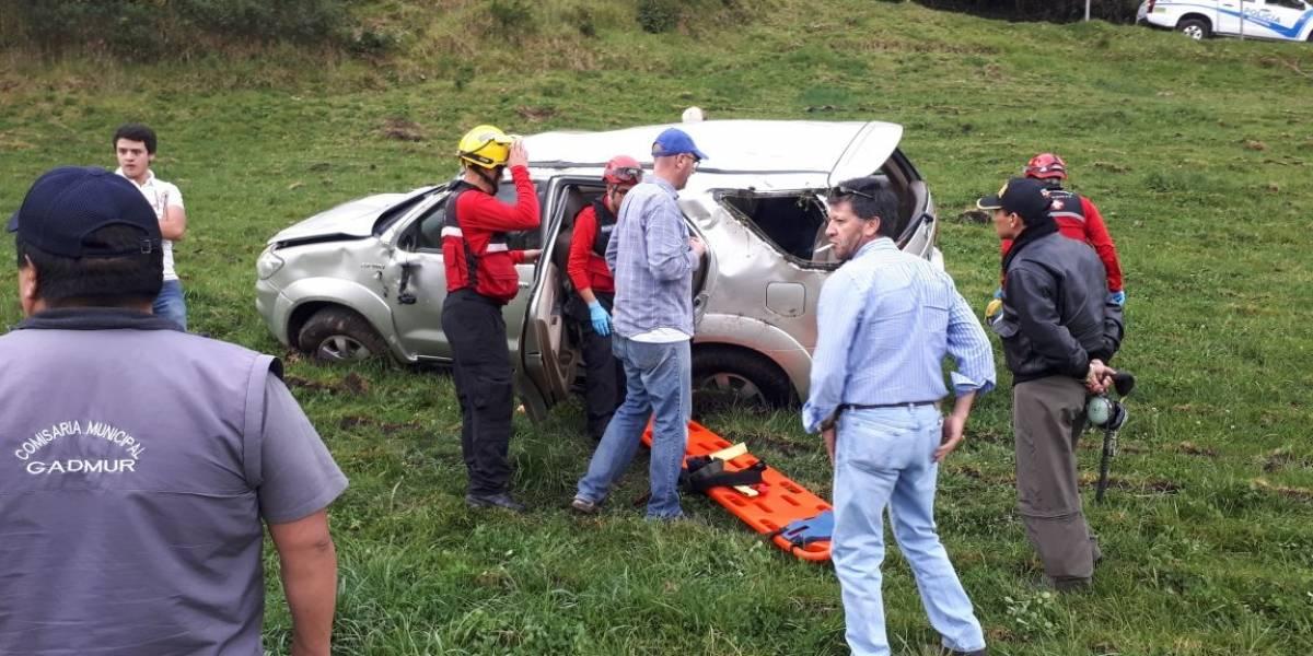 Siete afectados por accidente de tránsito en Rumiñahui