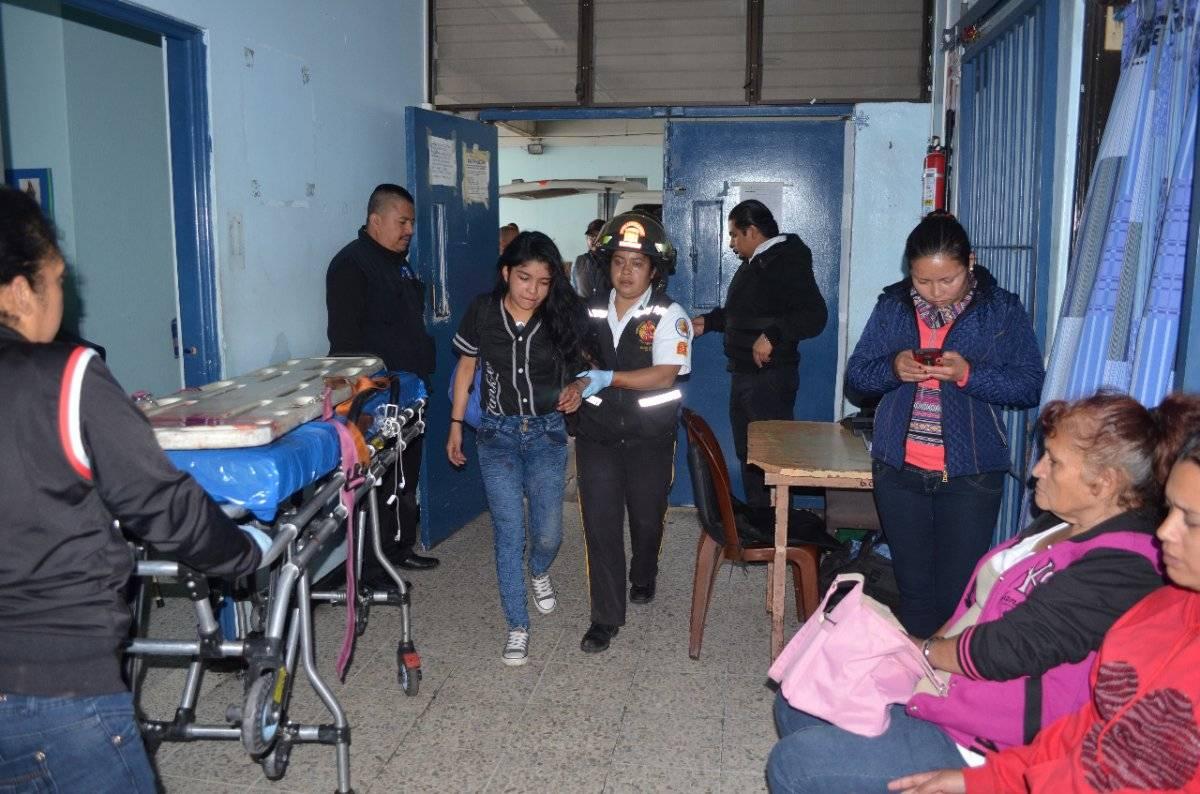 María López fue llevada al hospital San Juan de Dios tras el accidente en motocicleta.