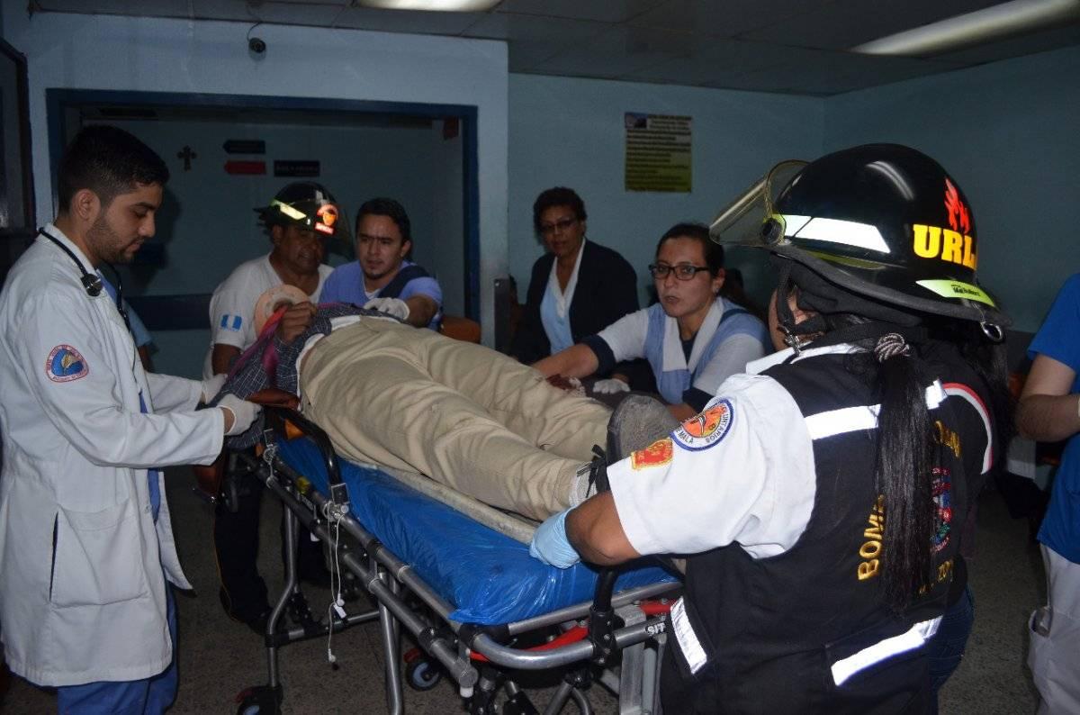 Nery Galicia, de 17 años, fue trasladado al hospital San Juan de Dios.
