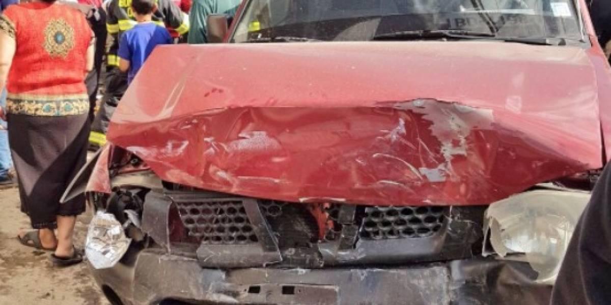 Cinco heridos tras accidente de tránsito en Yaruquí