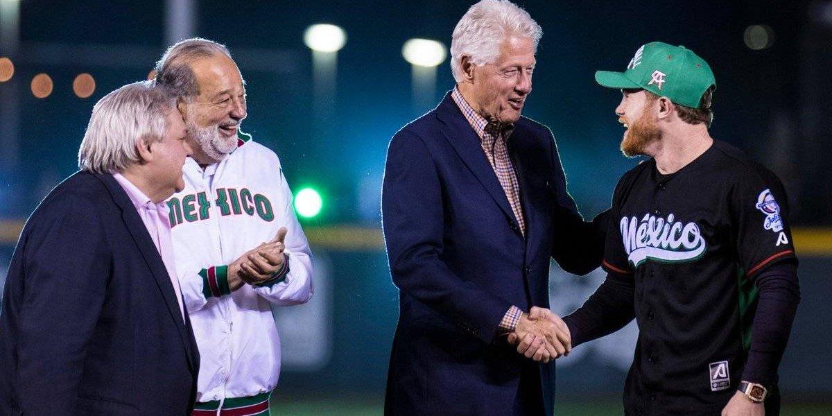 Bill Clinton, Carlos Slim y 'Canelo' Álvarez inauguran la Serie del Caribe