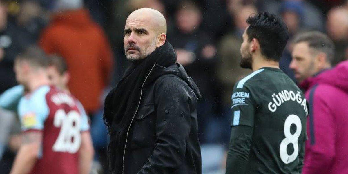 Claudio Bravo fue suplente en la igualdad del Manchester City ante Burnley