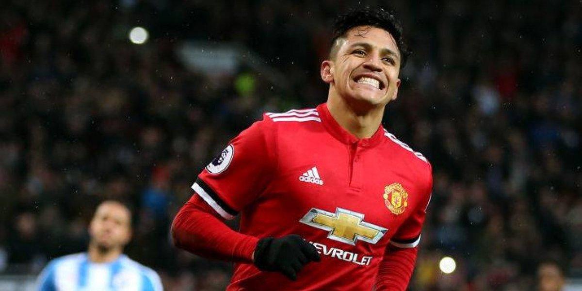 Estreno soñado: Alexis Sánchez anotó en su debut en Old Trafford