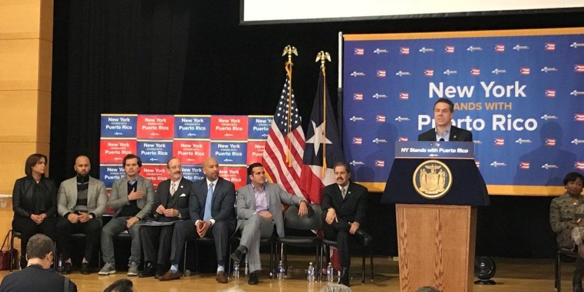 Denuncia presentación de Rosselló y Cuomo en Nueva York