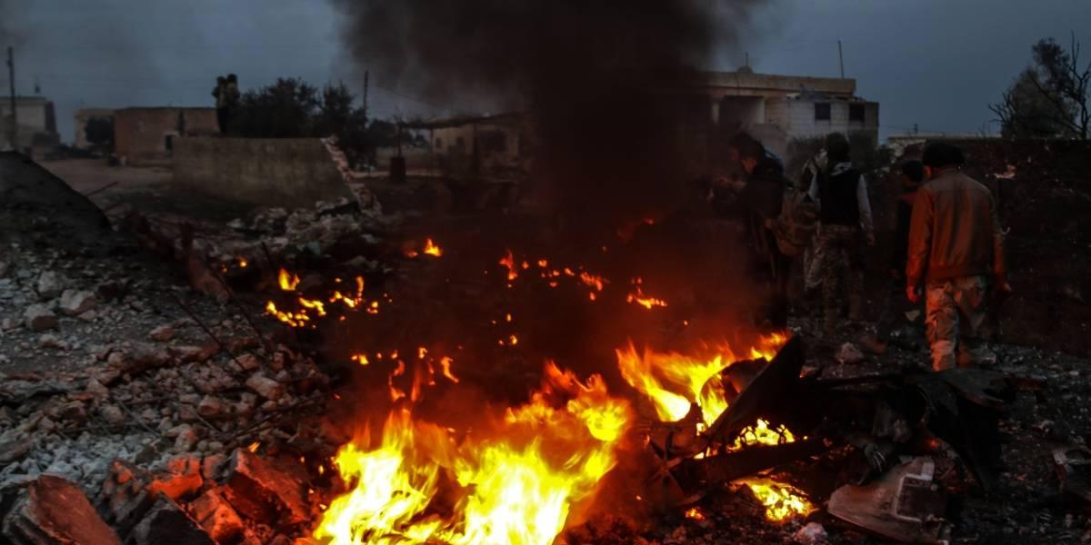 Grupo terrorista derriba avión ruso en Siria y asesina al piloto