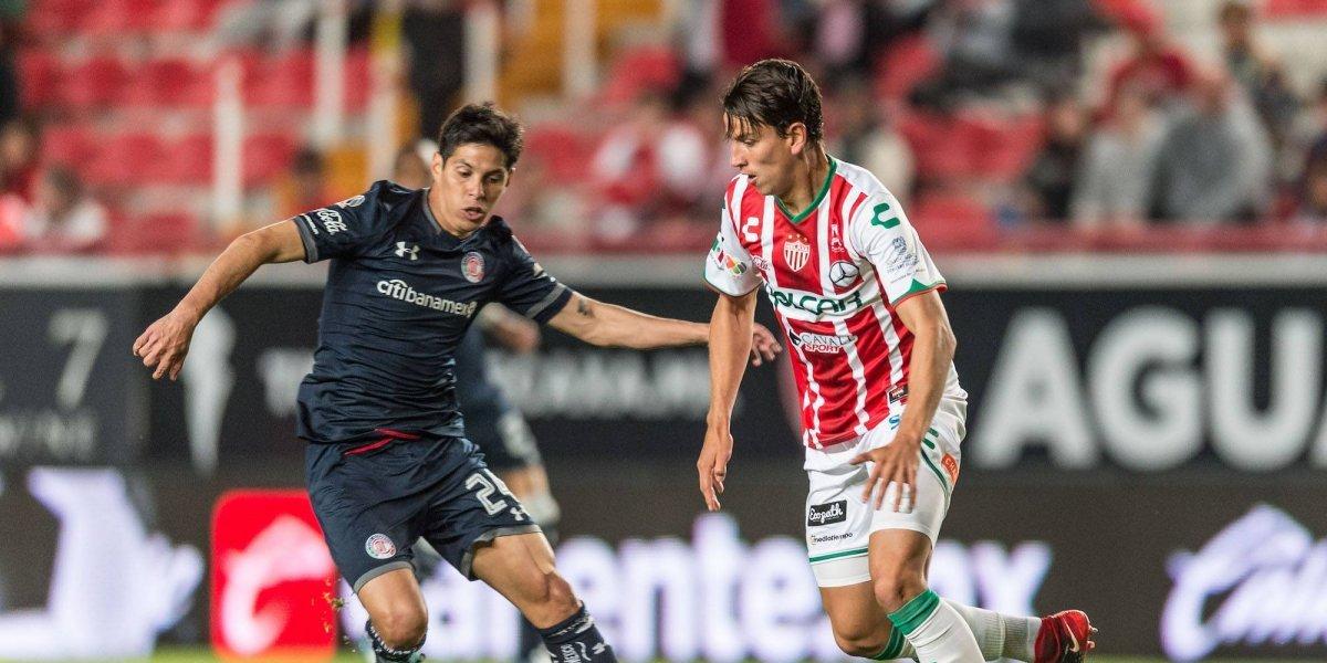 Barragán falla penal y hace que Necaxa empate ante Toluca