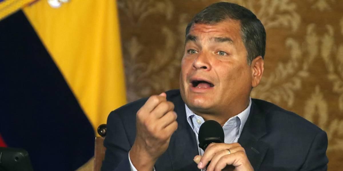 Rafael Correa habla del proceso electoral