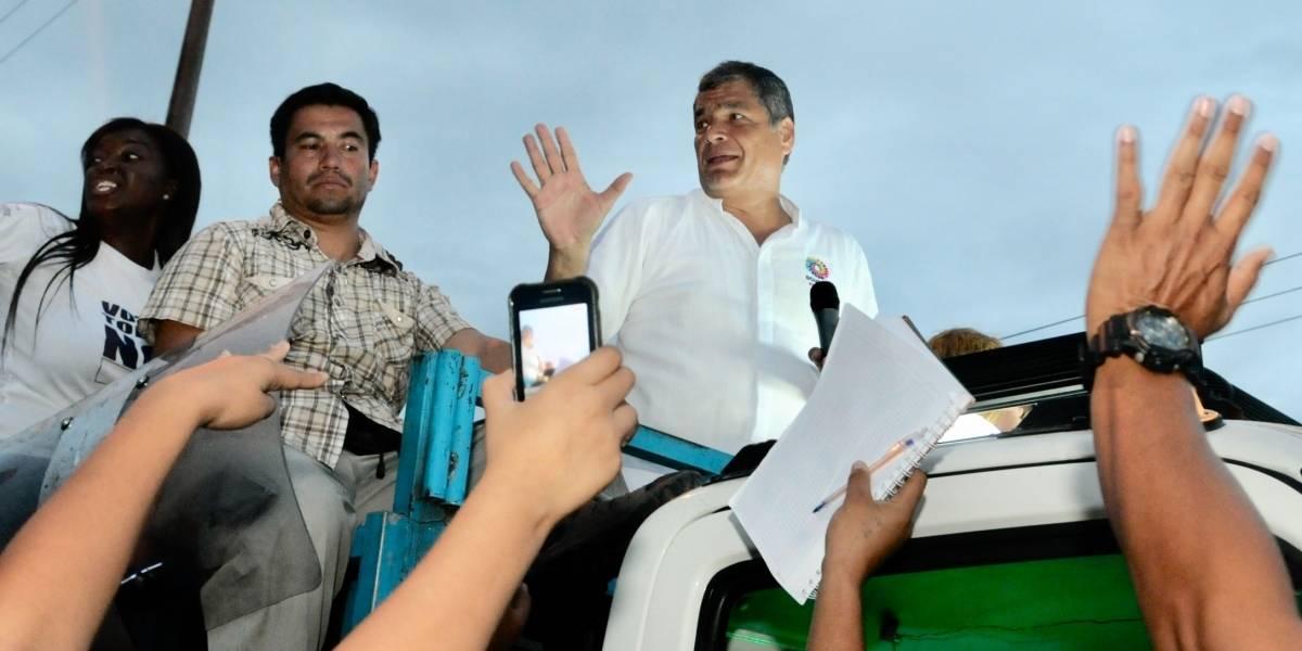 Policía inicia investigaciones por agresiones a Rafael Correa en Quinindé