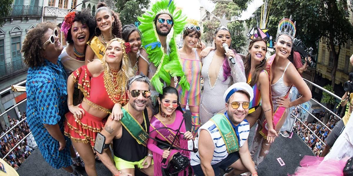 Veja fotos do Bloco da Preta, que atraiu famosos no Rio
