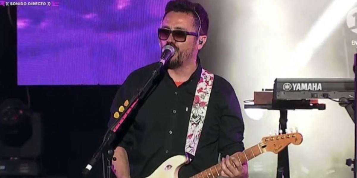 Chancho en Piedra funa al Chino Rios durante su presentación en Dichato