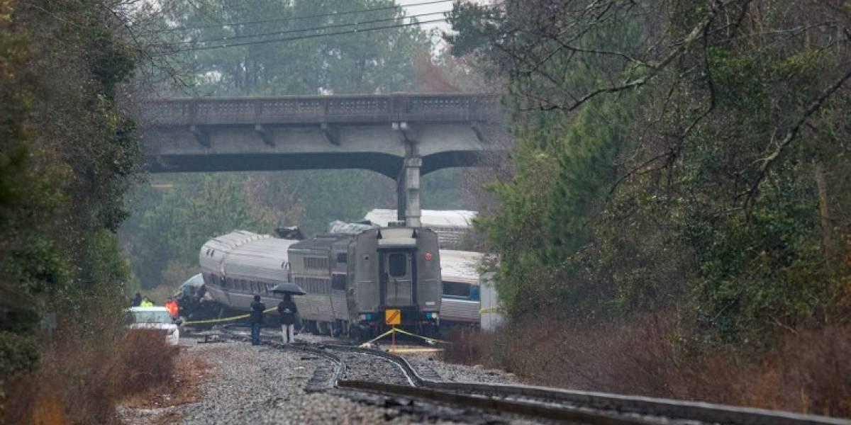 FOTOS. Choque de trenes en Carolina del Sur deja 2 muertos y 100 heridos