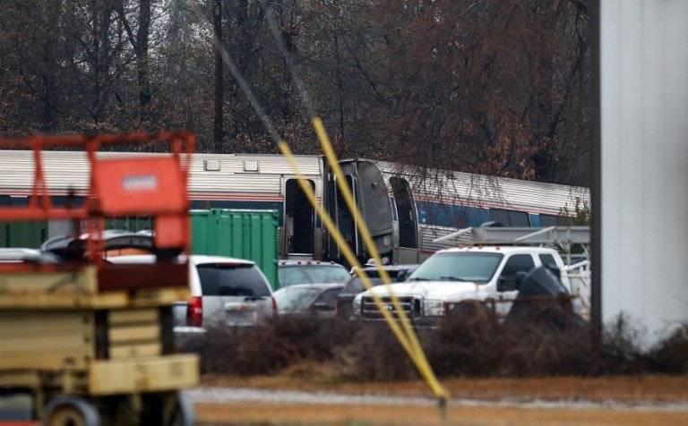 Choque de trenes en Carolina del Sur