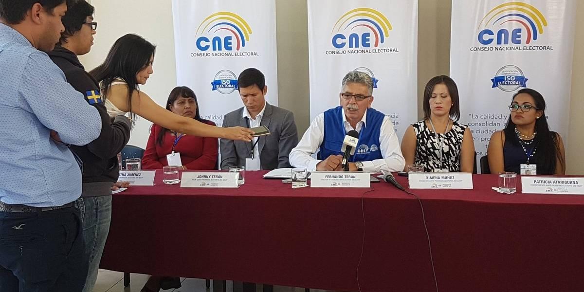 Papeletas falsas se encontraron en Cuenca