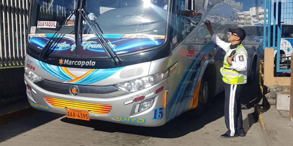Se cumplió controles a buses interprovinciales