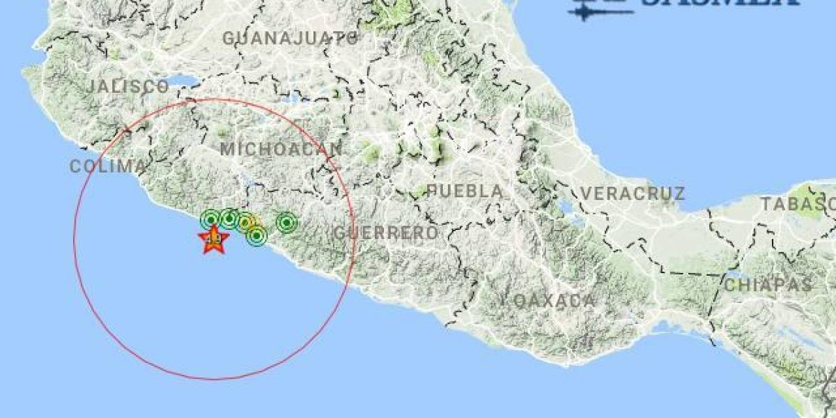 Sismo de 4.9 grados sacude Michoacán