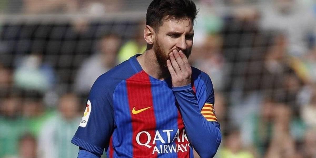 Messi estará en el banquillo en el RCDE Stadium